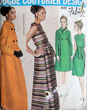 1967 Vintage VOGUE Sewing Pattern B32 EVENING COAT & DRESS (1870R) Fabiani ITALY