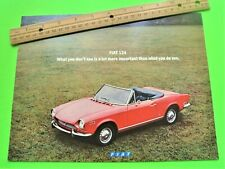 1971 FIAT 124 SERIES DLX COLOR CATALOG Brochure USA ED SPIDER Wagon COUPE Xlnt++