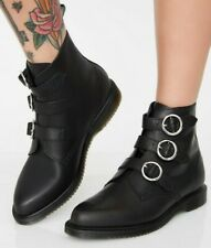 NEW!! Dr Martens MAUDIE Black Temperley 3 Buckle Boots Size UK 8