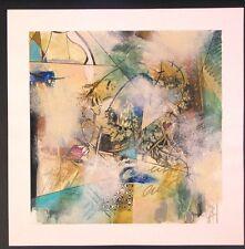 "Original Mixed Media Mono Print by John Douglas ""Life Forms 6"""