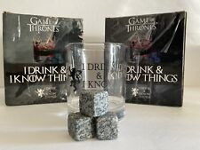 New listing Premium Game of Thrones Whiskey Glass, I Drink and I Know Things Set Of 2