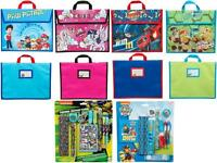 Childrens Boys Girls School Book Bag Satchel Stationery Set Pens Pencils Ruler
