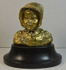Vintage Italian Bronze Bust of a Young Girl