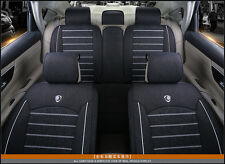 Car Seat Cover Set Styling Fit Most Car Interior Accessories Sedan Linen Fabric