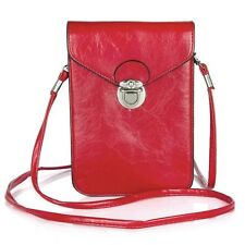"""6.3"""" Universal PU Leather Phone Bag Shoulder Pocket Wallet Pouch Case with Strap"""