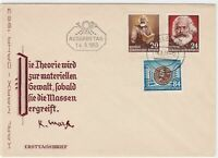 germany 1953 stamps cover ref 12945