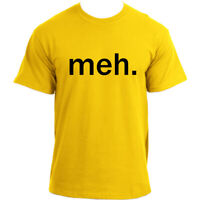 Meh Funny T Shirts - Geek Nerd Sarcastic Attitude T-shirt For Men