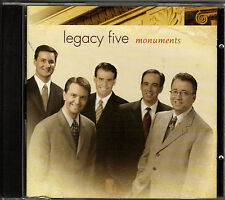 "LEGACY FIVE....""MONUMENTS""""......NEW HTF FACTORY SEALED  GOSPEL CD"
