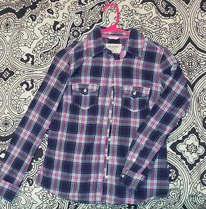 Aeropostale Womens Size Medium Flannel button down Long Sleeve Shirt