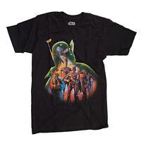 Star Wars Boba Fett Fill Mens Black T-Shirt