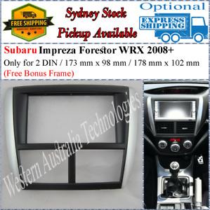 Fascia facia Fits Subaru Forester Impreza WRX Double Two 2 DIN Dash Kit