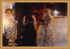 Schubert am Klavier Franz Komponist Piano Familie Kind LW Gustav Klimt A1 059