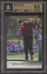 2001 Upper Deck UD #1 Tiger Woods RC Rookie BGS 9.5 Gem Mint