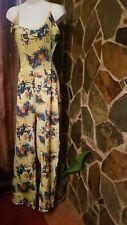 Wide Leg Floral  Pant Jumpsuit Romper SZ XXXL  Preowned