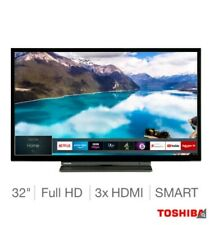 "New Toshiba 32LL3A63DB 32"" Smart Full HD 1080p Freeview LED TV, Black + F&F DELI"