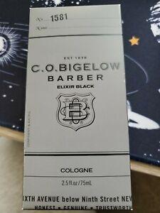 C.O. Bigelow Barber Cologne No. 1581 Elixir Black 2.5 fl oz Spray RARE FULL