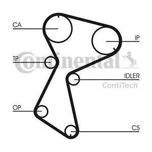 CONTITECH Timing Cam Belt Kit CT604K1 FOR Super 5 19 Megane I 21 Chamade 340-360