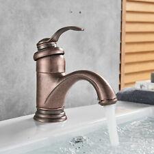Single Handle Waterfall Bathroom Sink Faucet Antique Copper Vanity Basin Mixer