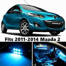6 x Premium ICE BLUE LED Lights Interior Package Kit for Mazda 2 2011-2014