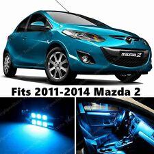 6 x Premium ICE BLUE LED Lights Interior Package Kit for Mazda 2 2011-2014