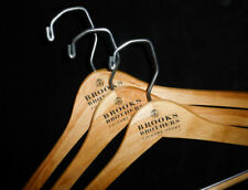 NEW! 3 - BROOKS BROTHERS-LOGO Wooden Suit/Pants/Shirt Hangers Hanger