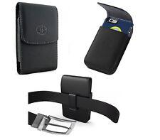 XL Vertical Leather Belt Clip Pouch Holster For iPhone Samsung ZTE Motorola HTC