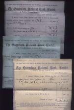 1899-1900 THE QUEENSLAND NATIONAL BANK LTD, Original three Dividend receipts