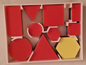 LEARNING BY LOGIC Invicta Education Sorting Pattern Blocks Tray Shapes NEW