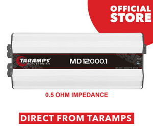 Taramps MD 12000.1 - 0.5 Ohm Amplifier 12000 Watts RMS  DIRECT FROM TARAMPS!