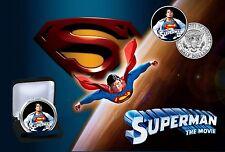 Superman Las películas - 24Kt Oro Plateado JFK Kennedy medio dólar moneda Con Certificado De Autenticidad