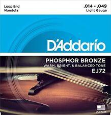 D'Addario EJ72 Phosphor Bronze Mandola Strings, Light, 14-49