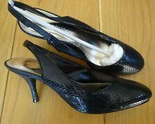 Roberto Vianni Black Sling Back Shoes UK 5 / 38