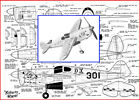 """Model Airplane Plans (UC): Folkerts SK-3 'Jupiter' 20"""" Scale Racer .099-.29"""