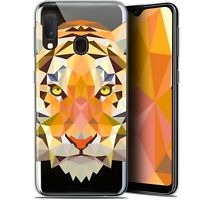 "Coque Gel Pour Samsung Galaxy A20E (5.8"") Extra Fine Polygon Animals - Tigre"