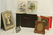 "VINTAGE COPPER EMBOSSED 5.5"" FRAME, 1938 CATHOLIC BOY PHOTOGRAPH & PHOTO ALBUM"