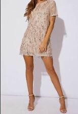 """""""In The Style"""" Gold Tassel Sequin T Shirt Dress - Size 16"""