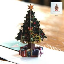 3D Pop Up Card Christmas Tree New Hot Holiday Merry Christmas Greeting Cards