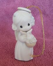 Precious Moments Angel Ornament w/ Flower Basket ~ 1994 ~ 528218