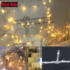 10M 100 LEDs Weihnachten Hochzeit Party Dekor Fairy Lichterketten Warm Weiß DE