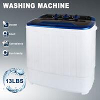 13LBS Portable Washing Machine Mini Compact Twin Tub Laundry Washer Spin Dryer