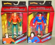"SUPERFRIENDS SUPERMAN & AQUAMAN DC Multiverse Mattel 6"" Figure SUPER FRIENDS"