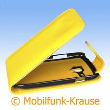 Flip Case Etui Handytasche Tasche Hülle f. Samsung GT-I8200N / I8200N (Gelb)