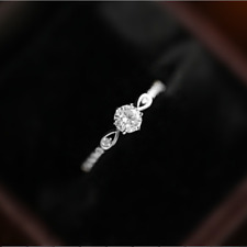 Simple White Sapphire Eternity Wedding Ring 925 Silver Engagement Jewelry Gifts