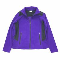 Columbia By The Lodge Full Zip Fleece Size MEDIUM Womens Purple Black Jacket M