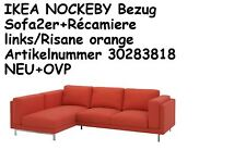 IKEA NOCKEBY Bezug Sofa2er+Récamiere links Risane orange Artik.30283818 NEU+OVP!