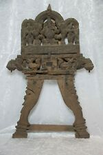 Indien Antike Tempel Holzstütze Gottheit Ganesha  Hinduismus South India ~19.Jh