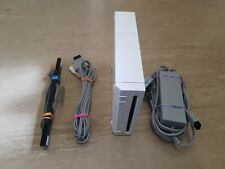 Nintendo Wii Console & Wires Only White Fully Tested  Replacement VGC FREE P&P