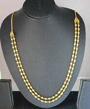22k Gold plated Necklace Chain Long Asian Indian  jewelry Gold Chain hc138