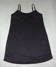 Avella: Plus Size: 18-20. Sleek Slinky BLACK Comfy Longer-Length Singlet/Slip