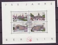Berlin Block   8 Ersttagsstempel  750 Jahre Berlin  -5